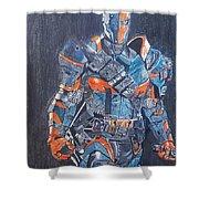 Deathstroke Illustration Art Shower Curtain