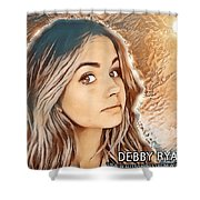 Debby Ryan Golden Beauty Shower Curtain