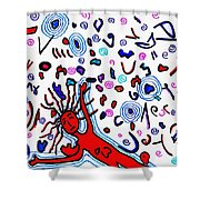 Debris Field Shower Curtain