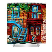 Debullion Street Neighbors Shower Curtain