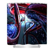 Decadence Abstract Shower Curtain