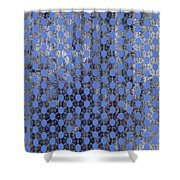 Decadent Urban Blue Patterned Abstract Design Shower Curtain