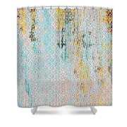 Decadent Urban Light Colored Patterned Abstract Design Shower Curtain
