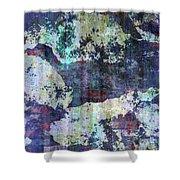 Decadent Urban White Splashed Bricks Grunge Abstract Shower Curtain