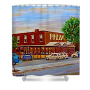 Decarie  Tasty  Food  Pizza Shower Curtain
