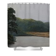 December Evening Shower Curtain