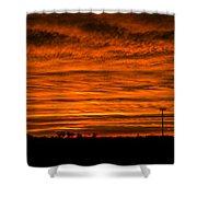 December Nebraska Sunset 002 Shower Curtain