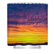 December Nebraska Sunset 003 Shower Curtain