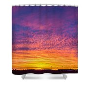 December Nebraska Sunset 004 Shower Curtain