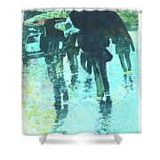December Rain In Nurnberg Shower Curtain