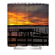 December Sunset Shower Curtain