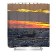 December Swells 6 Shower Curtain