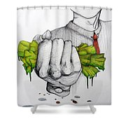 Deception Of Greed Shower Curtain