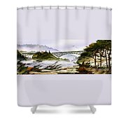 Deception Pass Bridge Shower Curtain