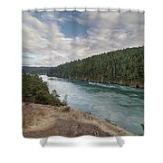 Deception Pass State Park Shower Curtain