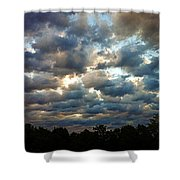 Deceptive Clouds Shower Curtain