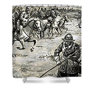 Decisive Battles  Where King Charles Lost His Crown Shower Curtain