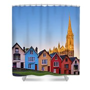 Deck Of Cards And St Colman's Cathedral, Cobh, Ireland Shower Curtain