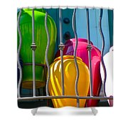 Deck Party Shower Curtain