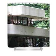 Deck View Fallingwater  Shower Curtain