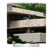 Deck View People  Shower Curtain