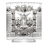 Declaration Of Independence 1884 Poster Restored Shower Curtain