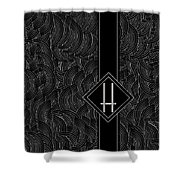 Deco Jazz Swing Monogram ...letter H Shower Curtain