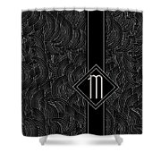 Deco Jazz Swing Monogram ...letter M Shower Curtain
