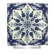 Deconstructed Sea Mandala Shower Curtain