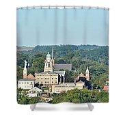 Decorah Iowa Panorama 2 Shower Curtain