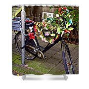 Decorated Bicycle. Amsterdam. Netherlands. Europe Shower Curtain