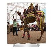 Decorated Camel Pushkar Shower Curtain