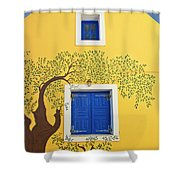 Decorated House Shower Curtain by Meirion Matthias