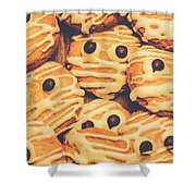 Decorated Shortbread Mummy Cookies Shower Curtain