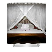 Decorative Bed Shower Curtain