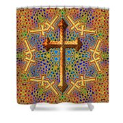 Decorative Cross Shower Curtain
