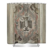 Decorative Design, Carel Adolph Lion Cachet, 1874 - 1945 J Shower Curtain