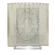 Decorative Design, Carel Adolph Lion Cachet, 1874 - 1945 Te Shower Curtain