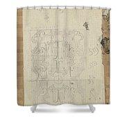 Decorative Design, Carel Adolph Lion Cachet, 1874 - 1945 W Shower Curtain