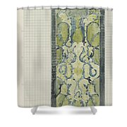 Decorative Design In Green And Blue, Carel Adolph Lion Cachet, 1874 - 1945 Shower Curtain