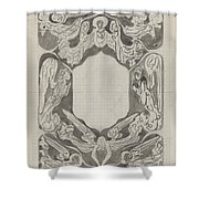 Decorative Design With Angels, Carel Adolph Lion Cachet, 1874 - 1945 Shower Curtain