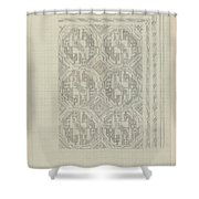Decorative Design With Geometric Motif, Carel Adolph Lion Cachet, 1874 - 1945 Shower Curtain