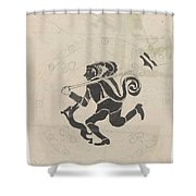 Decorative Design With Hares, Carel Adolph Lion Cachet, 1874 - 1945 Shower Curtain