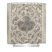 Decorative Design With Leaf Motif, Carel Adolph Lion Cachet, 1874 - 1945 Shower Curtain
