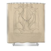 Decorative Design With Two Birds, Carel Adolph Lion Cachet, 1874 - 1945 Shower Curtain