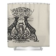 Decorative Design With Two Standing Deer, Carel Adolph Lion Cachet, 1874 - 1945 Shower Curtain