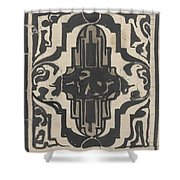 Decorative Design With Two Stylized Lions, Carel Adolph Lion Cachet, 1874 - 1945 Shower Curtain