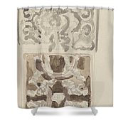 Decorative Designs With Seated Figures, Carel Adolph Lion Cachet, 1874 - 1945 Shower Curtain