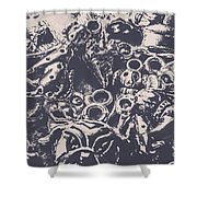 Decorative Dog Design Shower Curtain