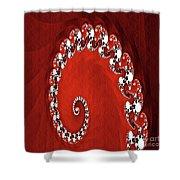 Decorative Fractal Tile 11 Shower Curtain